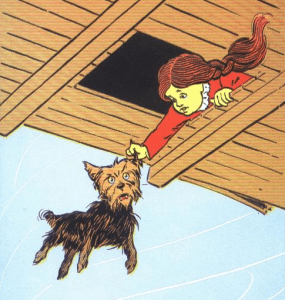 drawing from the book of toto in wizard of oz