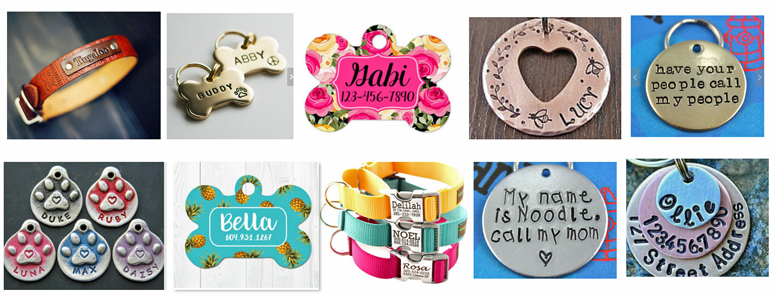 pet tags for dog collars