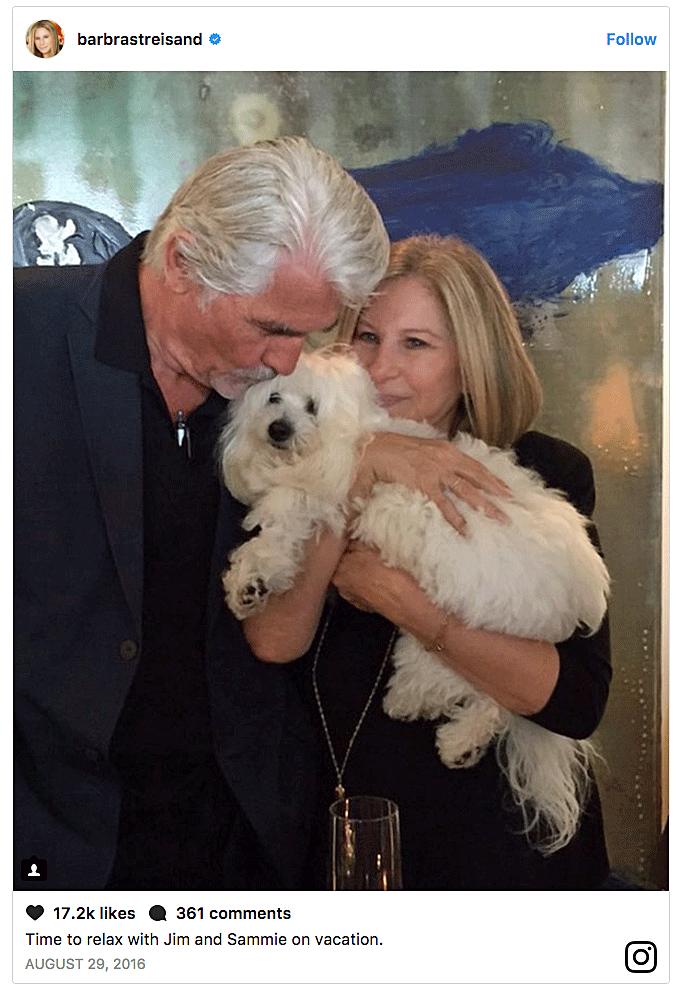 Barbra Streisand and her dog