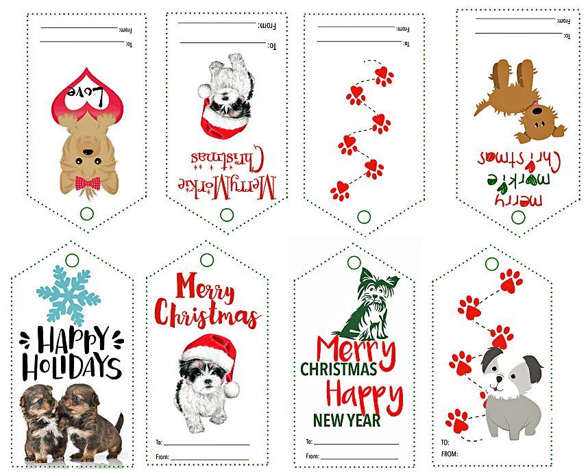 free printable gift tags Morkies