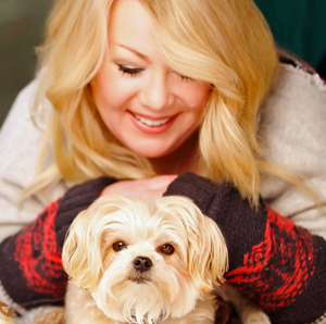 Jann Arden and Midi her morkie