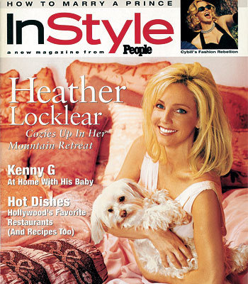 Heather Locklear with her maltese dog
