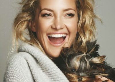 Kate Hudson and a yorkshire terrier