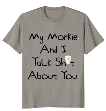 fathers day from dog - sassy Morkie t-shirt