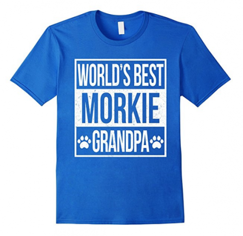 gifts from the dog, World's Best Morkie Grandpa t-shirt