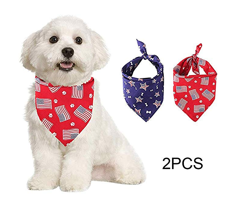 American flag bandanas for dogs