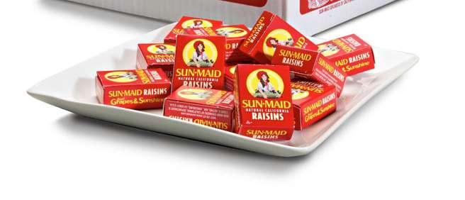 Sun Maid raisins are a hazard for dogs
