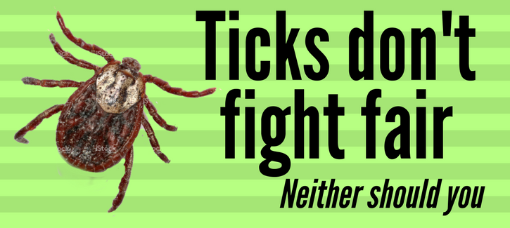 ticks don't fight fair, neither should you