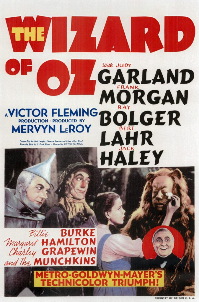 the wizard of oz original movie poster