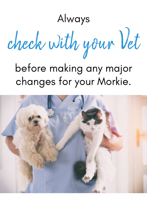 check with your vet before making changes