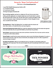 download tick repellant recipe