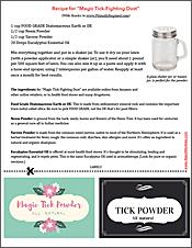 download tick repellant recipe