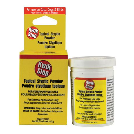 Styptic powder to help stop bleeding quickly.