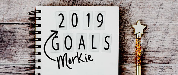 new years resolutions for your dog, written on a notebook.