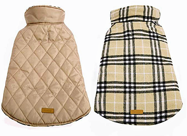reversible dog coat