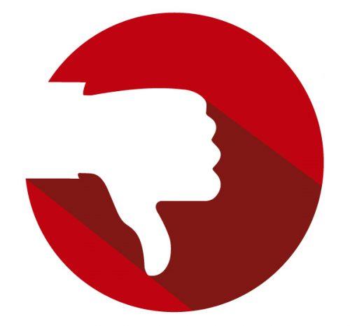 thumbs down symbol